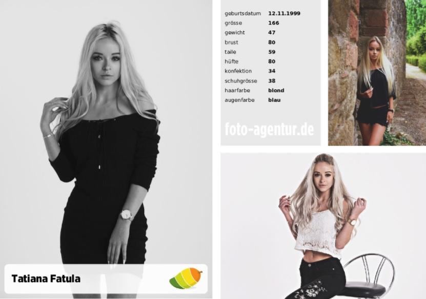 Tatjana Fatula Model Der Woche Modelagentur Frankfurt Am Main
